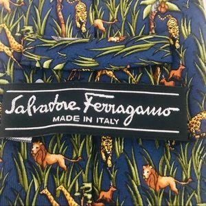 Salvatore Ferragamo Silk Tie: Tropical Jungle